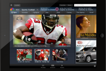 Enhanced TV iPad App allows user to select camera angle during live broadcast